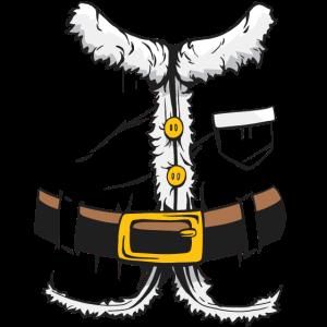Weihnachtsmann Kostüm Nachahmung Imitat Outfit