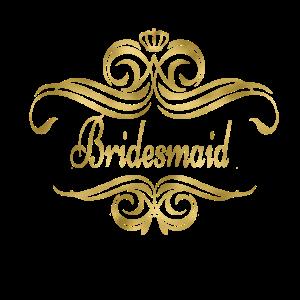 bridesmaid swing gold