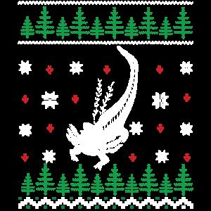 Axolotl Weihnachten Ugly Sweater Geschenk Lustig