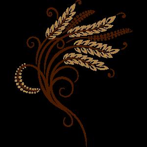 Filigrane Getreide Ähren, Bäcker, Bäckerei
