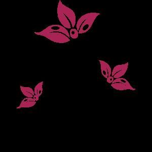Ranke mit bunten Blumen, Blüten. Sehr feminin.