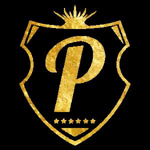 p buchstabe gold