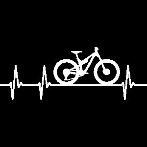 Mountainbike Fahrrad Herzschlag Heartbeat Puls