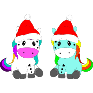 Einhorn Weihnachten Pony