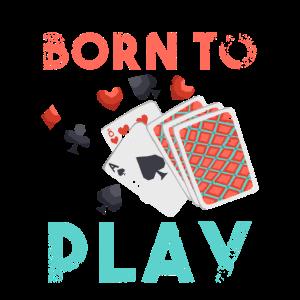 Born To Play Poker Pikass Pokerhand