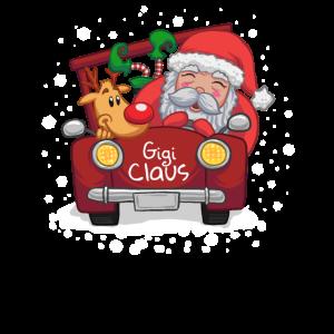 Gigi Claus Truck Weihnachten Santa Hat Familie