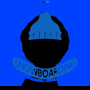 Snowboard Totenkopf | Snowboarder Winter Geschenke