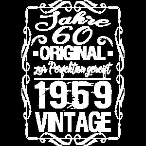 60. Geburtstag Geschenk Geschenkidee Vintage Retro