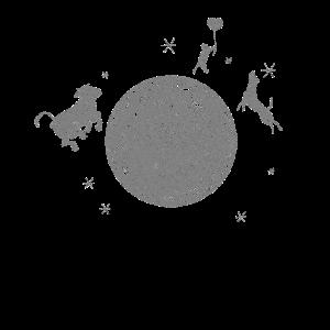 Tiere auf dem Mond Geschenk