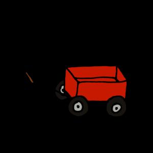 Roter Bollerwagen, Holzkarre, Kinder, Geschenk
