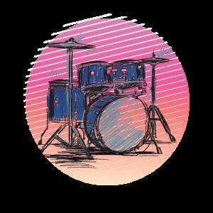 Schlagzeug Retro Dummer Schlagzeuger Geschenk