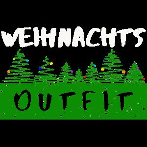 Weihnachts outfit mit Weihnachtsbäumen