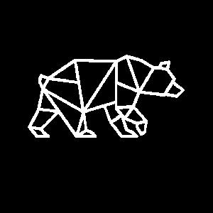 Bär geometrisch - Hipster Bär