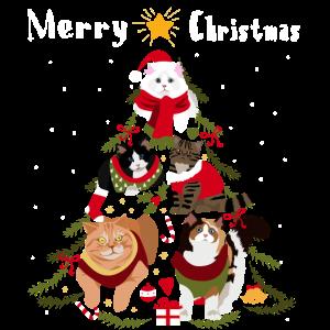 Weihnachtsbaum Katze Weihnachten Bescherung Katzen
