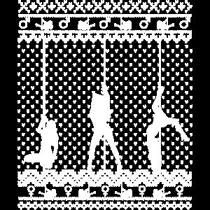 Weihnachten Go-go-Tänzerin Poledance Stripperin