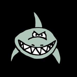 Böser Hai, Zähne, Comic