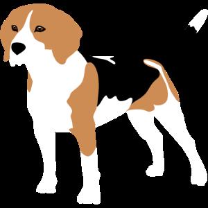 Beagle Silhouette bunt