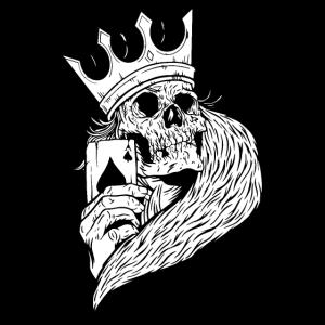 Totenkopf Pokerspiele Spielkarte ASS