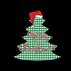 Merry Christmas Weihnachtsbaum mit Bommelmütze