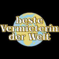 Goldene Serie - beste Vermieterin mit Weltkugel