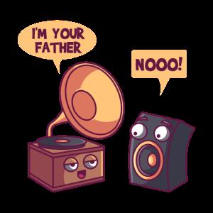 Schallplattenspieler Vater, musiker witz geschenk