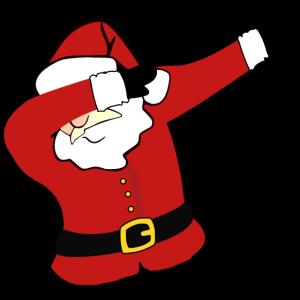 Dabbing santa weihnachtsmann geschenk dab