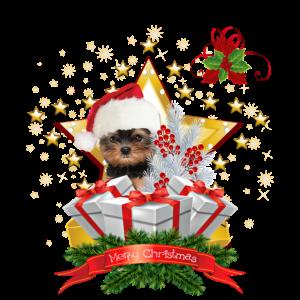 Yorkshire Terrier Chrismas Shirt Weihnachten