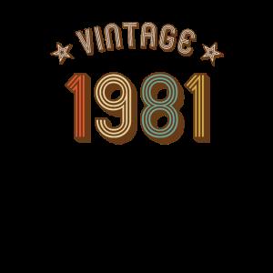 1981 Vintage Retro Jahrgang Geburtsjahr Geburtstag