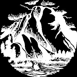 Mountain Wildnis Felsen Natur See