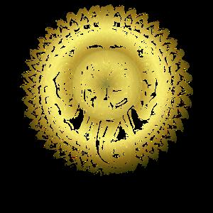 Goldene indische Gottheit