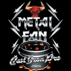 Grill T Shirt Design Dutch Oven Metal Fan