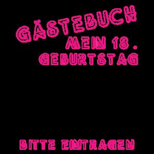 18. Geburtstag Gästebuch