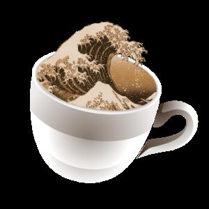 Ein Cup der großen Welle
