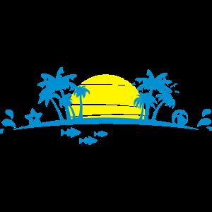 Sommer - Palmen Strand
