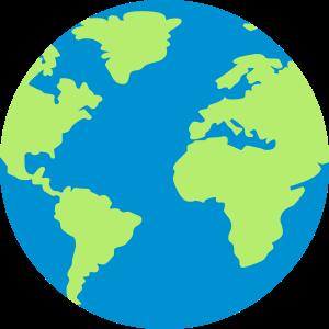 Blau-grüner Globus
