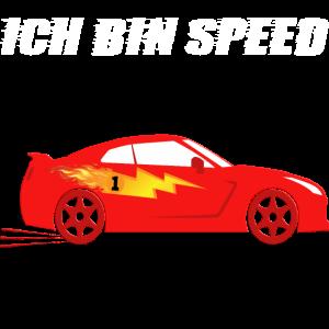 Sportauto - Ich bin Speed in Feuer-Rot