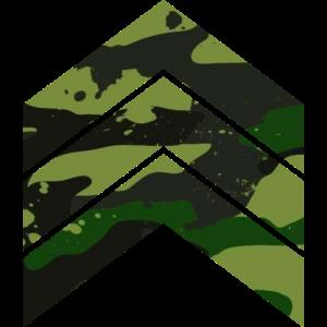 Camouflage Dreieck Pfeile grün