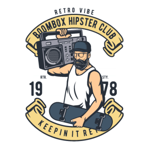 Boombox Hipster Club