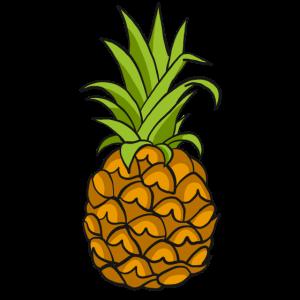 Südsee Comic Ananas Zeichnung