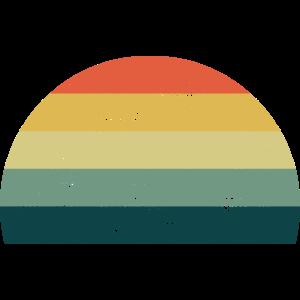 Retro Sonne Sunset Regenbogen Farben Vorlage