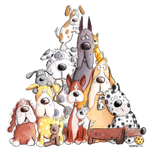 Mega Hundhaufen I Lustiges Hundemotiv I Hund