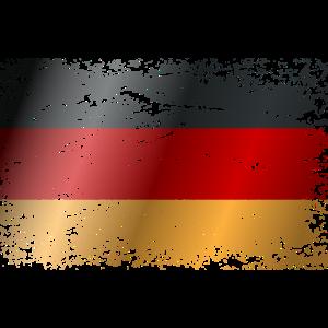 Deutschland Flagge Used Look Vintage BRD Land