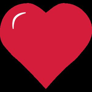 Herz mit Glanz - 3D-look
