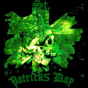 St Patrick's Day Skull I am Irish England Patrick
