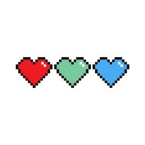 Three Extra Lives Hearts