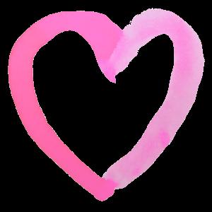 Ein rosa Herz Wasserfarbe