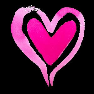 Herz rosa pink