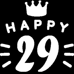 29. Geburtstag 29 Jahre alt Happy Birthday Spruch