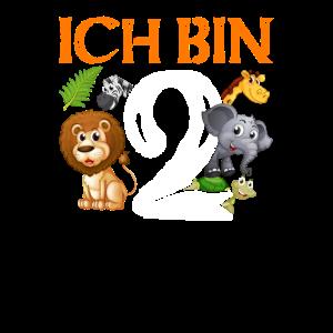 Ich Bin 2 Kindergeburtstag Safari Tiere Geschenk