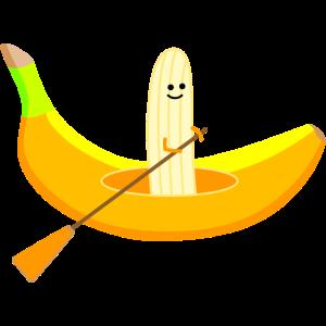 Paddler mit Banane